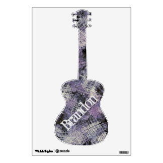Ink Scratches Personalized Guitar Wall Decal