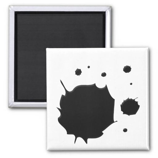 Ink Spill 2 Inch Square Magnet