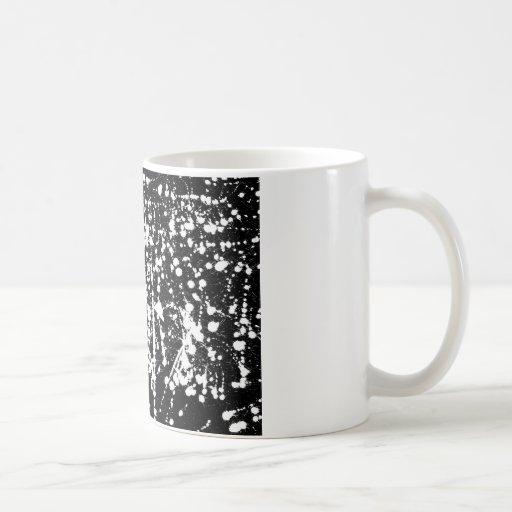 ink splash illustration coffee mug