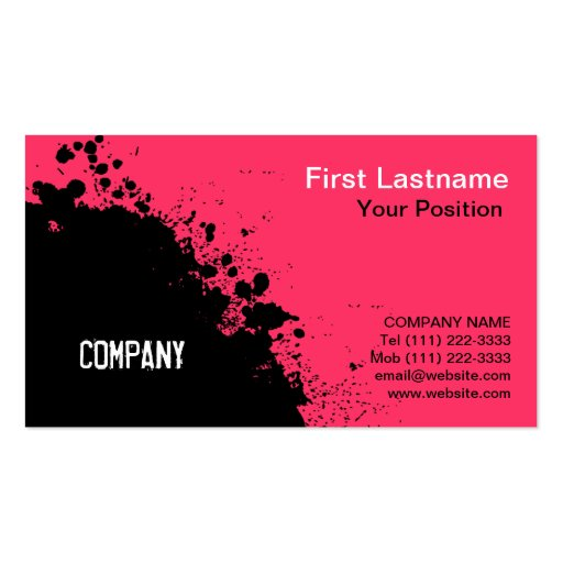 Paint splatter Business Card Templates Page4