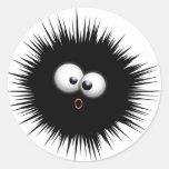 Ink Splat Cartoon Classic Round Sticker