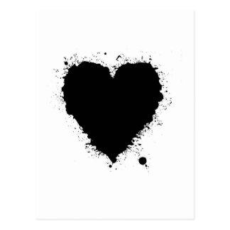 Ink Splat Heart Postcard