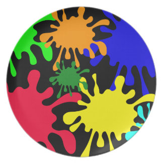 Ink Splat Party Plates