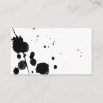 ink splatter custom business card template