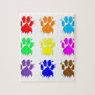 Ink Splatter Dog Paw Pattern Puzzle