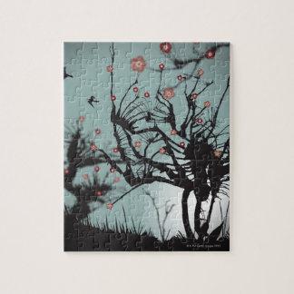 Ink Splattered Trees Puzzle