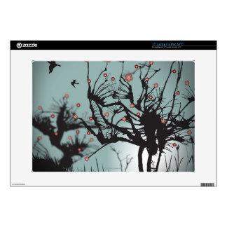 Ink Splattered Trees Laptop Decals