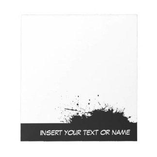 Ink spot Notepad