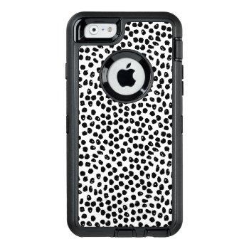 Ink Spots - White/black / Andrea Lauren Otterbox Defender Iphone Case by SpoonflowerPresents at Zazzle