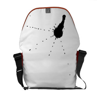 Ink Stain Courier Bag