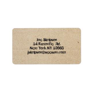 ink stamped address labels