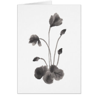 Ink to flower card