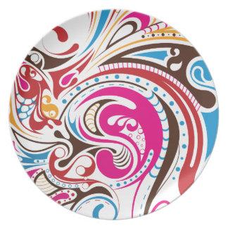 Ink Twirl Dinner Plate