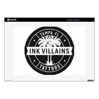 """Ink Villains Tattoos Logo Skin For 15"""" Laptop"""
