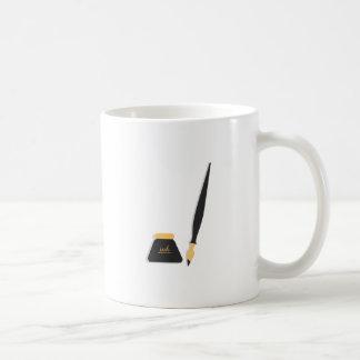 Ink Well & Pen Classic White Coffee Mug