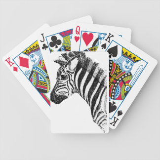 Ink Zebra Playing Cards