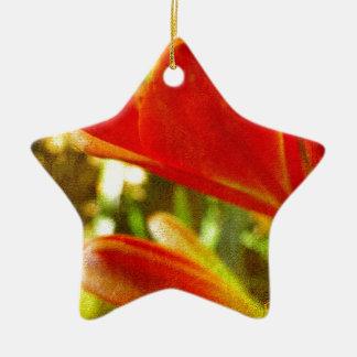 Inka Lily Abstract Ceramic Ornament
