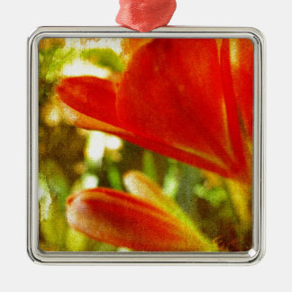 Inka Lily Abstract Metal Ornament