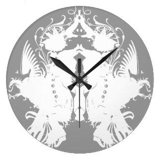 Inkblot Wall Clocks