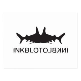 Inkblot Fish Postcard
