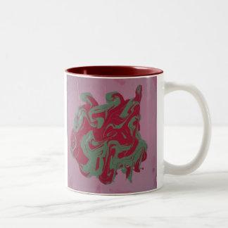 Inkblot mug Pink