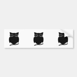 Inkblot Owl Bumper Stickers
