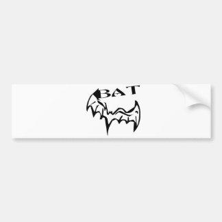 Inked Bat Car Bumper Sticker