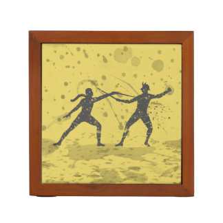 Inked Fencing Duel Desk Organizer