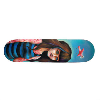 Inked In Pink Skateboard Deck