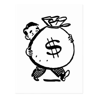 Inked Mr. Moneybags Post Cards