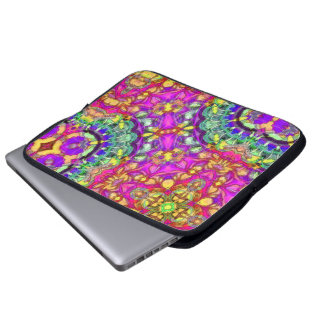 Inked Pink Abstract Laptop Sleeve