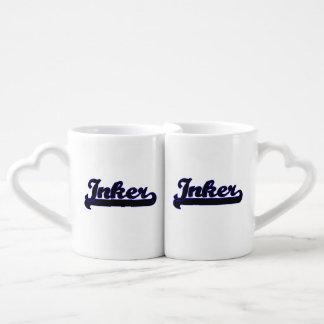 Inker Classic Job Design Couples' Coffee Mug Set