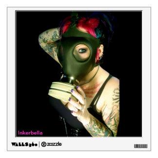 Inkerbella Gas Mask Wall Decal