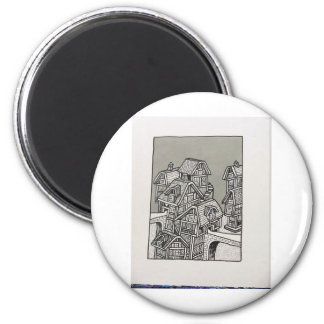 Inking 1a by Piliero 2 Inch Round Magnet