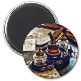 Inkstand 2 Inch Round Magnet
