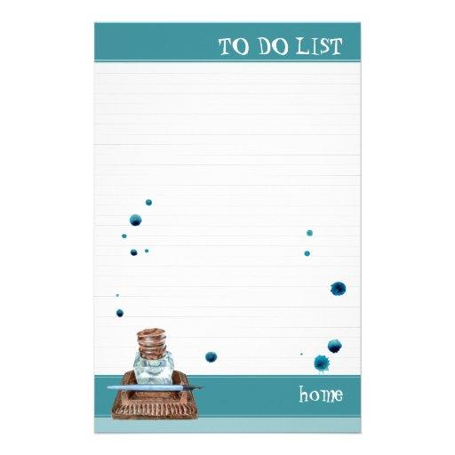 Inkwell alineado para hacer la lista  papeleria de diseño