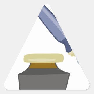 inkwell graphic triangle sticker