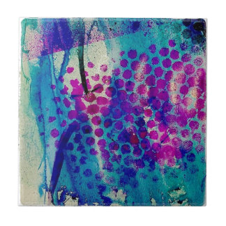 Inky Abstract Tile