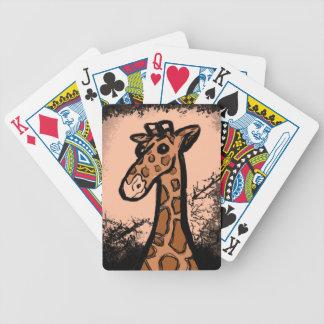 Inky Cartoon Giraffe Bicycle Playing Cards