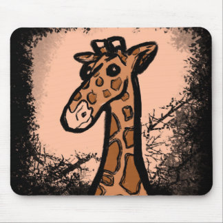 Inky Cartoon Giraffe Mouse Pad