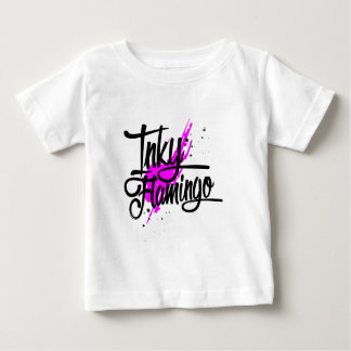 Inky Flamingo Baby T-Shirt
