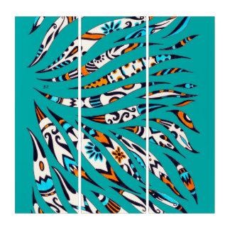 Inky Funky Pattern Art Teal