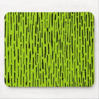 Inky Lines - Martian Green Mouse Pad