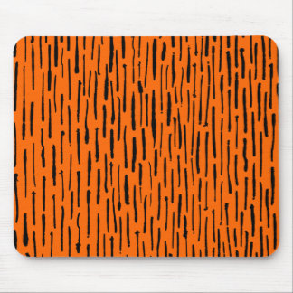 Inky Lines - Orange Mouse Pad