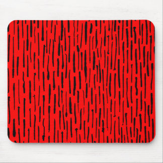 Inky Lines - Red Mouse Pad