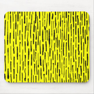 Inky Lines - Yellow Mouse Pad