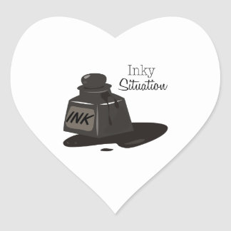 Inky Situation Heart Sticker