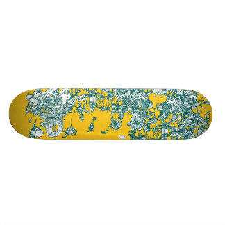 Inky Sky Maze Skateboard
