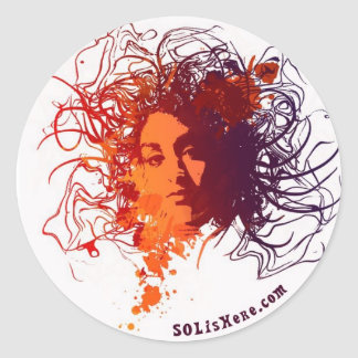 inky Sol Circle Sticker
