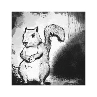 Inky Squirrel Canvas Print